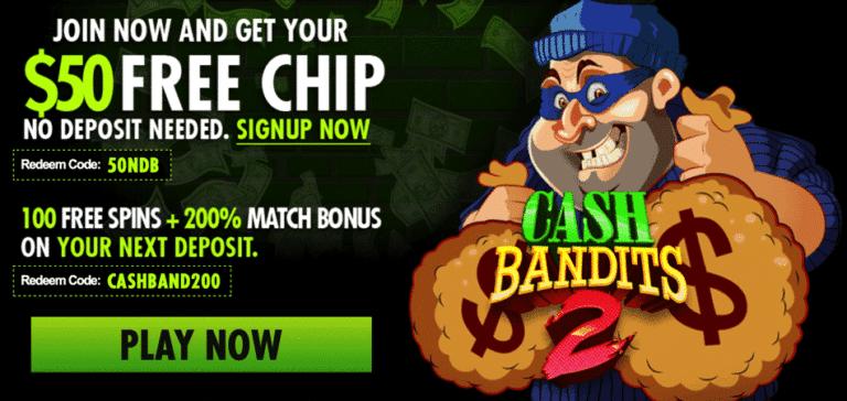 cash bandits bonus code - ragingbull