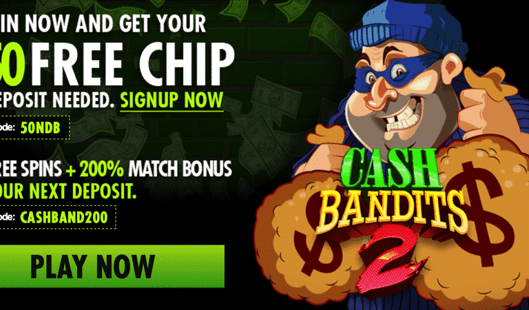 Cash Bandits Bonus Code – Raging Bull