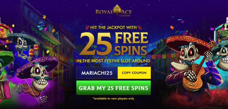 mariachi bonus code royal ace