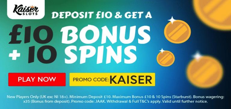 starburst bonus code kaiser slots