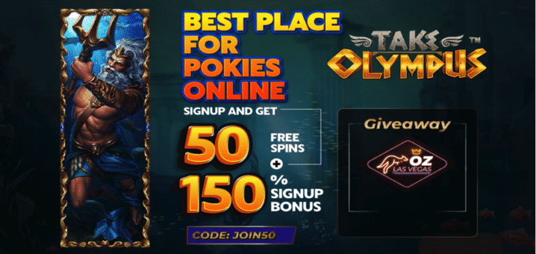 50 spins code for take olympus