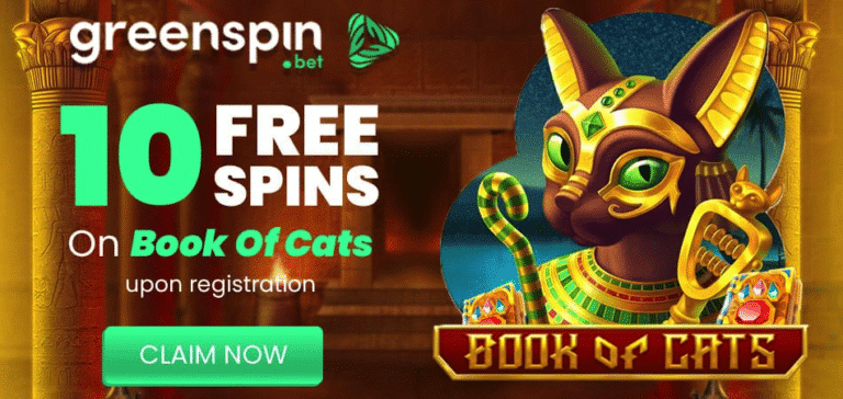 10 free spins on signup book of cats