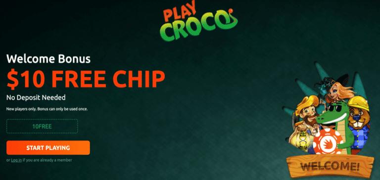 $10 free chip playcroco