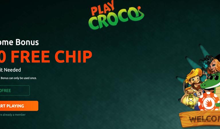$10 Free Chip at Play Croco Casino