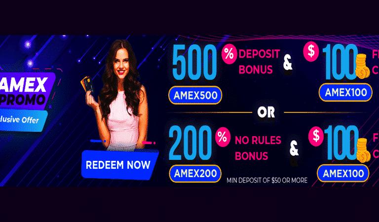 $100 Free Chip – Amex Promo at Vegas Rush