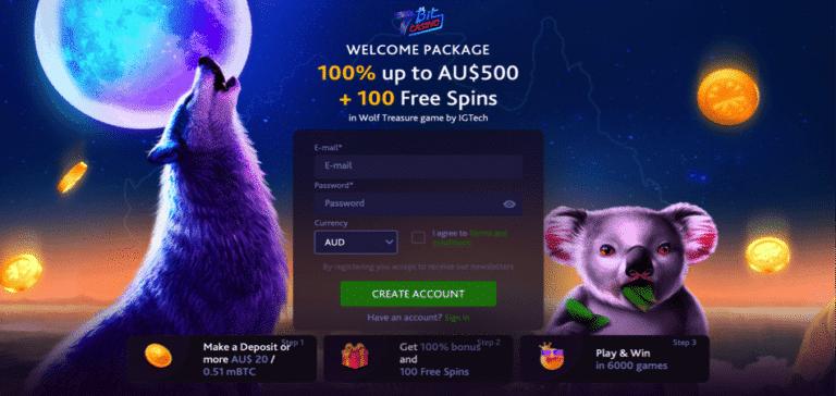 100 free spins deposit bonus - wolf treasure