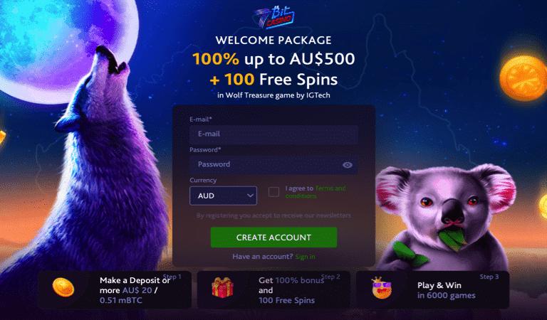 100 Free Spins Deposit Bonus – Wolf Treasure