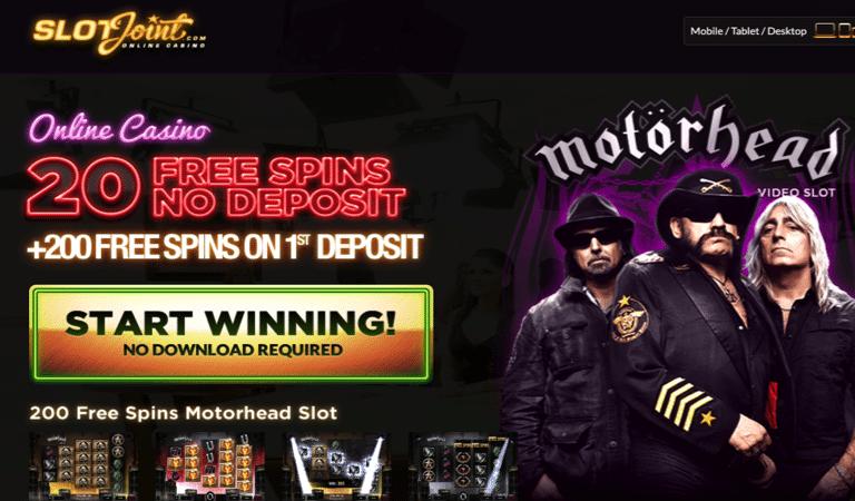 20 Spins No Deposit on Motorhead Slots – SlotJoint