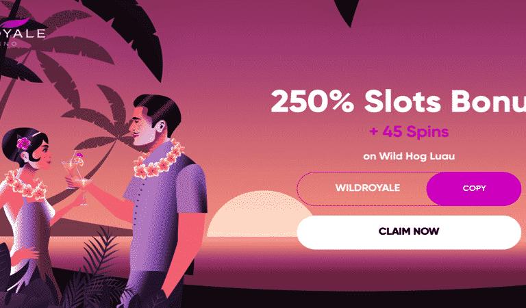 45 Free Spins on Wild Hog Luau at El Royale