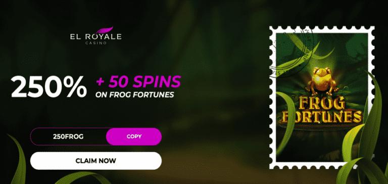 50 spins deposit bonus frog fortunes