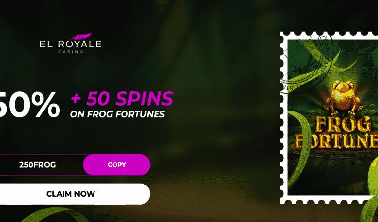 50 Spins on Deposit for Frog Fortunes