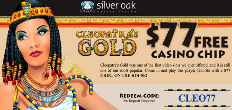 $77 free chip - silveroak - cleopatra