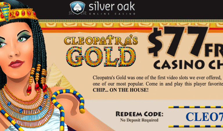 $77 Free Chip on Cleopatra Slots – SilverOak