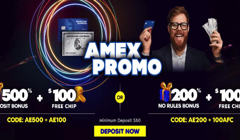 $100 No Deposit Bonus – AMEX Promo – Hallmark Casino