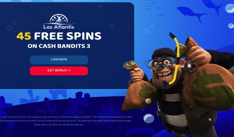 45 Free Spins on Registration for Cash Bandits 3