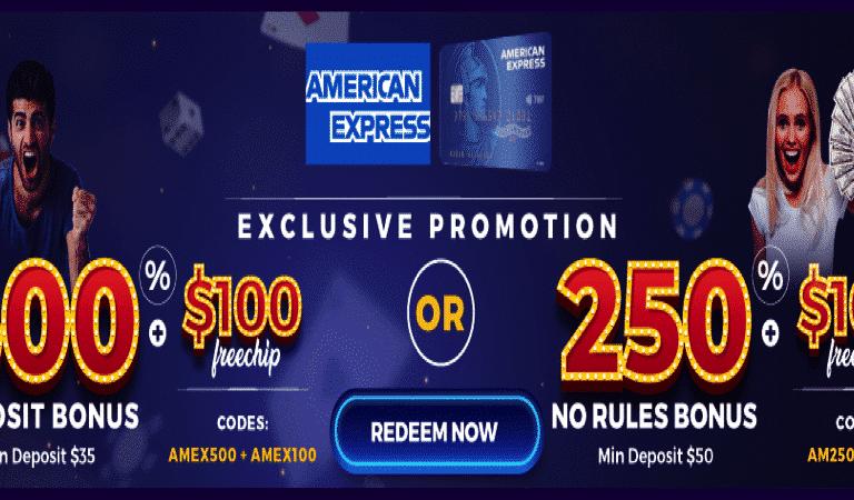 $100 Free Chip for AMEX users – FunClub