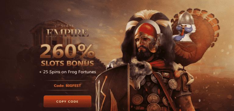 25 spins bonus code