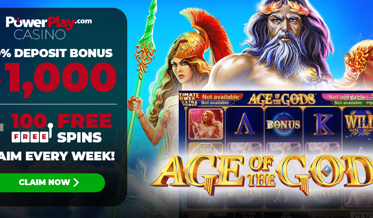 100 Free Spins on Age of Gods Slots – PowerPlay