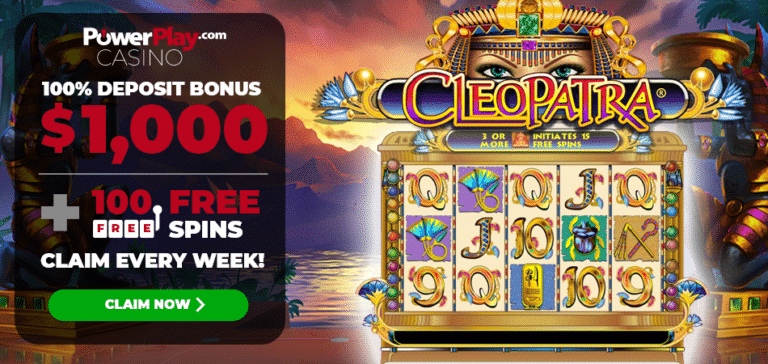 Cleopatra 100 Free Spins PowerPlay