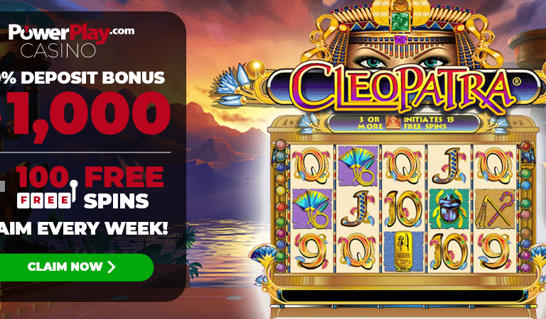 100 Free Spins on Cleopatra Slots – PowerPlay
