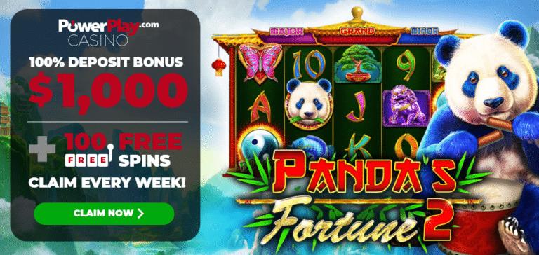 Panda's Fortune 100 Free Spins PowerPlay
