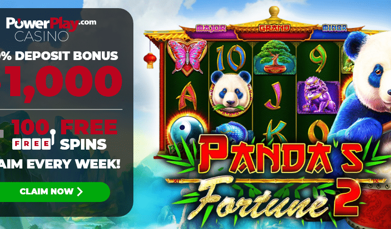 100 Free Spins on Panda's Fortune Slots – PowerPlay