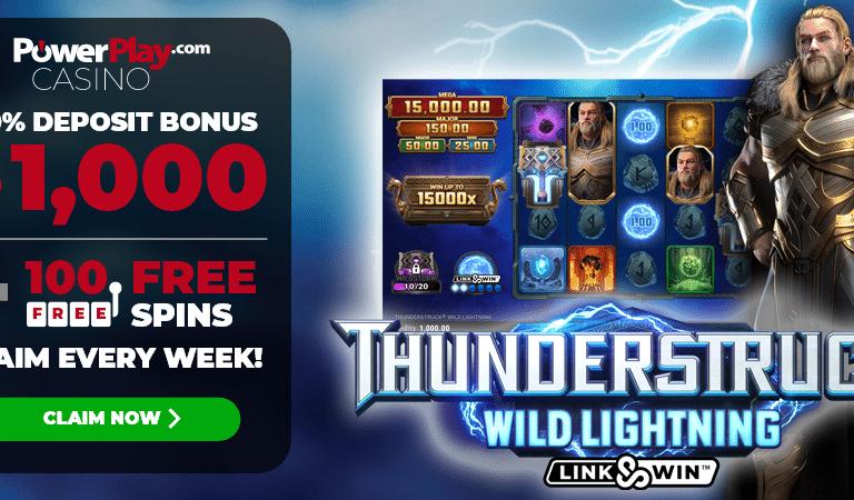 100 Free Spins on Thunderstruck Wild Lightning Slots – PowerPlay
