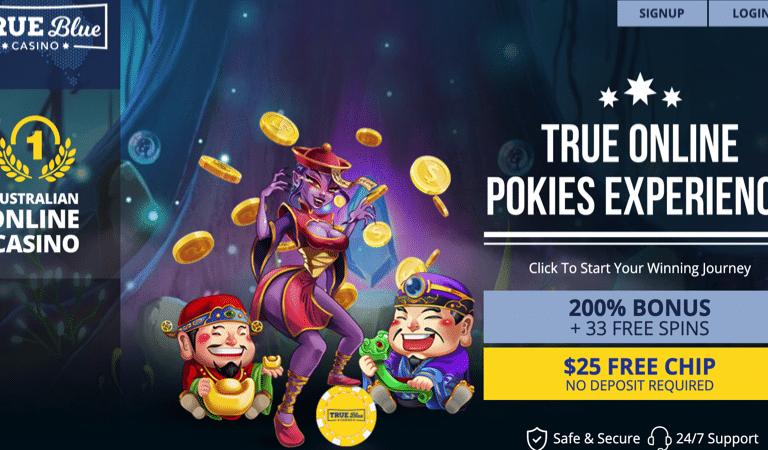 $25 Free Chip Bonus Code – True Blue Casino