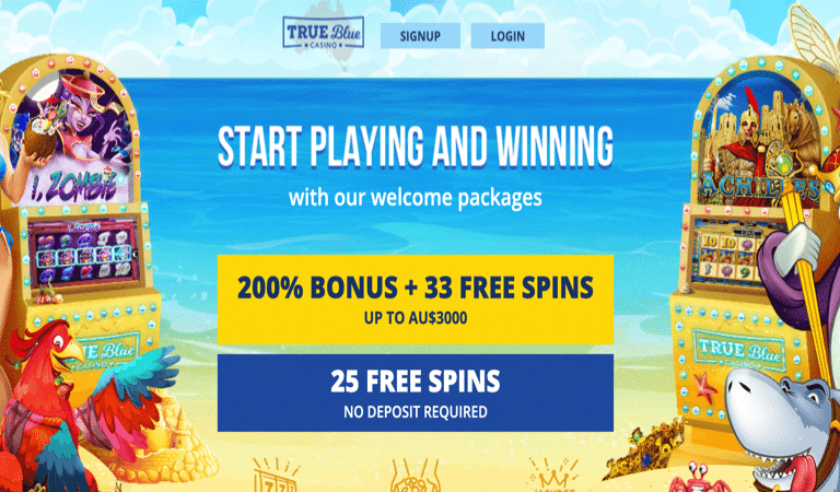 33 Free Spins Bonus Code – True Blue Casino