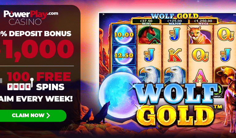 100 Free Spins on Wolf Gold Slots – PowerPlay